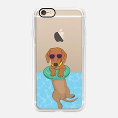 Casetify iPhone 7 Case and Other iPhone Covers - Swimming Dachshund by Megan Roy | #Casetify