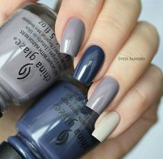 Navy blue nails are a popular nail color. Navy blue is one of the dark hues you rarely notice. Navy blue nails are very unique and delicate nowadays. From simplicity and sweetness, to patterns and designs, to lots of shine and luster, you can find n Trendy Nails, Cute Nails, My Nails, Navy Blue Nails, Navy Blue Nail Polish, Popular Nail Colors, Nails Polish, Nail Swag, Fabulous Nails