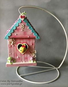 Hanging Birdhouse Cake - Cake by Cakes By Samantha (Greece)