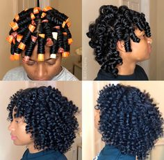 Perm Rod Set's always make for the perfect curl! Shop our Curls & Coils collection to achieve this look ✨ Roller Set Natural Hair, Natural Hair Tips, Natural Curls, Natural Hair Journey, Natural Hair Styles, Braid Out Natural Hair, Natural Hair Tutorials, Permed Hairstyles, Girl Hairstyles