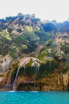 A waterfall in the gorge of Lake Sainte Croix. Road Trip France, France Travel, Europe Destinations, Amazing Destinations, Travel Around The World, Around The Worlds, Places To Travel, Places To Visit, Durance