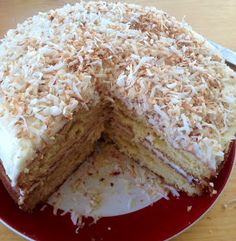 MorningNooNight: Coconut Cake with Coconut Buttercream