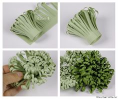 Брокколи Chrysanthemums made of paper. / Great Idea For A Gift Topper