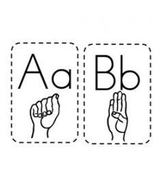 Sign language cards