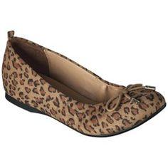 Just got these at Target - super cute & super comfortable!! Women's Merona® Maddison Flats - Leopard