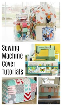 Sewing Tutorials Free Sewing Machine Cover tutorials - perfect for a gift for a fellow quilter - Over 50 ideas for gifts to make or buy for Quilters and those who love sewing! Easy Sewing Projects, Sewing Hacks, Sewing Tutorials, Sewing Crafts, Sewing Tips, Tutorial Sewing, Sewing Ideas, Softies, Sewing Classes For Beginners