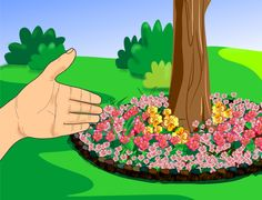 How to Create Tree Flower Beds -- via wikiHow.com