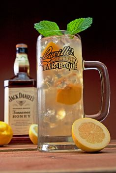 A taste of the South! Try our new Tennessee Peach Tea made with Jack Daniel's Tennessee Honey, Peach Schnapps, Monin White Peach, our freshly brewed peach iced tea , & Lucille's Sidewalk Lemonade!