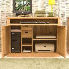 contempo oak hidden home office