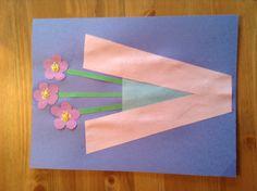 V is for violets in a vase - May 26 - Letter Craft