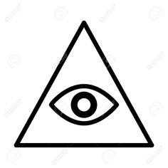 47998662-Eye-of-providence-or-all-seeing-eye-of-God-line-art-icon-for--Stock-Photo.jpg (1300×1300)