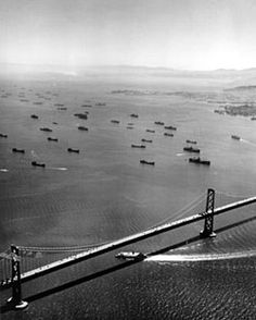 WWII- The fleet assembles in San Francisco Bay just days after the final victory