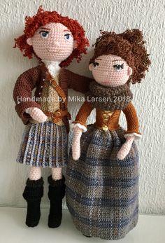 Crochet Outlander doll Jamie & Claire Fraser