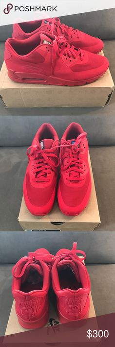 9e3a084f90 Shop Men s Nike Red size 11 Sneakers at a discounted price at Poshmark.  Description  Air Max 90 Hyperfuse Independence Day Pack Size Sold by  iseecookies.