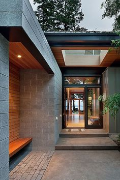 """One way to """"dress up"""" a covered passage way from the garage or pool house to main house"""