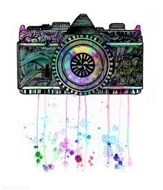 Camera Art colorful art camera drawing painting