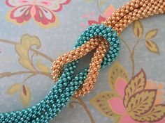 Cubic Right Angle Weave - Interchangeable Looped Bracelet