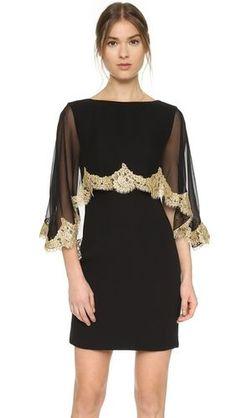 Купить Платье с накидкой с кружевом по краям за 3500.0 $ на LOOKBUCK