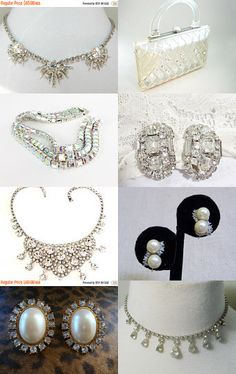 Bridal Bling - VJSE Wedding Treasury by Cleaver White on Etsy--Pinned with TreasuryPin.com