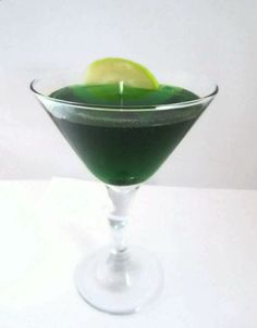 Scented Gel Wax Appletini Candle by CandlelitDesserts on Etsy, $15.99