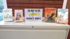Special Banned Books Week display, just for our children's section!