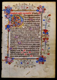 Book of Hours, England, circa 1425 (this is the Vespers for the Office of the Dead begins with the Psalm 114).