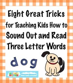Sounding Out Nonsense Words and CVC Words Eight Great Tricks for Teaching Kids to Sound Out and Read Three Letter Words Preschool Literacy, Kindergarten Reading, Kids Reading, Teaching Reading, Teaching Kids, Guided Reading, Reading Help, Reading Activities, Learning