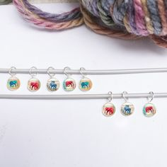 Check out this item in my Etsy shop https://www.etsy.com/uk/listing/172778817/knitting-stitch-markers-knitting