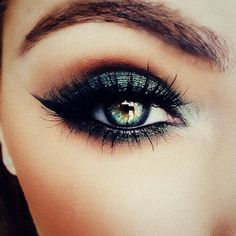 Mesmerise with smokey green eyes and longer than long eyelashes!