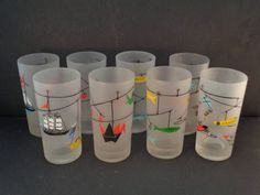 Barware Collection - SET OF 8 - LIBBEY - MOBILES - HIGHBALL GLASSES