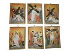 Vía Crucis de marmolina con catorce estaciones