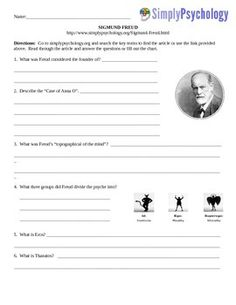 This is an assignment that has been created to go along with the www.simplypsychology.org website.  The assignments vary in length.  Link to the website is included on the assignment Assignments listed for $1.00 are typically one page.                                     $ 1.50 two pages                                     $ 2.00 three pagesSome assignments have graphs or charts to fill in.