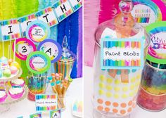 """Darling """"Art Party"""" idea for kids! My little Piccasso's would have loved this...maybe for my grandkids one day? Thank-you to Amy Atlas for this precious idea!"""