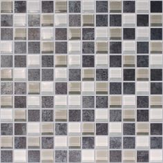 1x1 Metallic and Glass Mosaic $8.99 s/f
