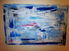 Colorful Abstract Oil on Canvas Painting by annaburke