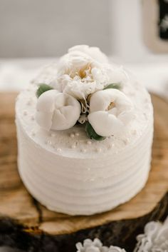 White wedding cake - Melissa Avey Photography