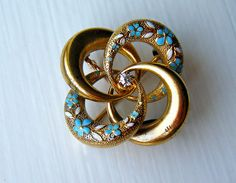 Antique Victorian love knot pin