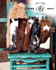 Designed with Natural Cowhides and trimmed with leather accents. Cowgirl Chic, Western Chic, Cowboy And Cowgirl, Cowgirl Style, Cowgirl Boots, Western Wear, Western Boots, Cowgirl Fashion, Western Purses