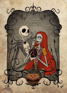 *JACK SKELLINGTON & SALLY ~ The Nightmare Before Christmas J