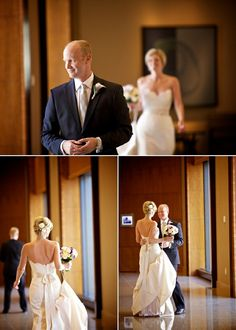 Bride and Groom First Look - Wedding at the Four Seasons Denver