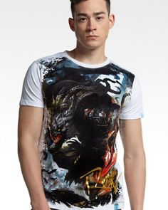 Rengar white t shirt for men 3D online game League of Legends hero tshirts