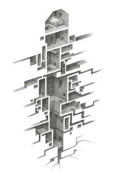 Galería - Arte y Arquitectura: espacios arquitectónicos más abajo de la realidad por Mathew Borret - 3