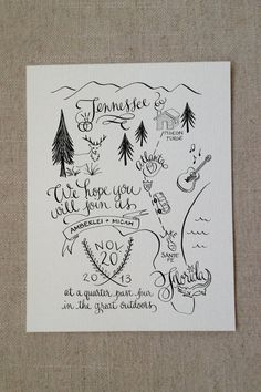 Custom Illustrated Wedding Map for Print by KatieHoffmanInk, $250.00
