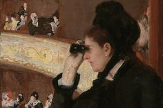 Detail of Mary Cassatt's Woman in Black at the Opera (1879)