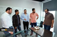 Look at the 2 guys staring at the #cake with Mohammed Al-Khateeb