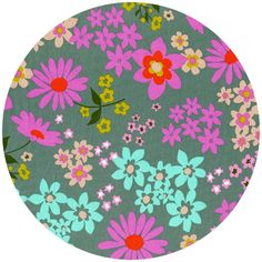 Melody Miller for Cotton and Steel, Playful, COTTON LAWN, Vintage Floral Aqua