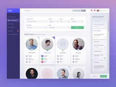 Hi!  Here's find prospects screen of new project for an US tech company. Stay tuned for more!  Full preview  More screens: 1. Dashboard 1.1. Dashboard Mobile  L for Love!