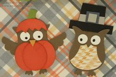 SHARING CREATIVITY and COMPANY: Pumpkin, Pirate and Pilgrim Owl Punch Art