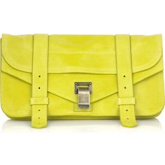 PS1 leather Pochette ($627) ❤ liked on Polyvore
