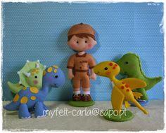 Dinossauros em feltro!